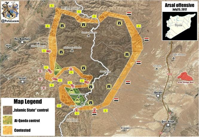 Syria điều không quân yểm trợ Hezbollah và quân đội Lebanon đánh dẹp thánh chiến ảnh 1