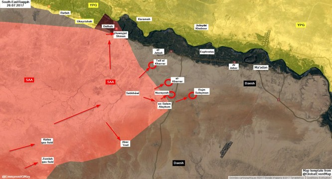 """""""Hổ Syria"""" phá hủy tuyến phòng thủ IS, áp sát chảo lửa Deir Ezzor ảnh 1"""