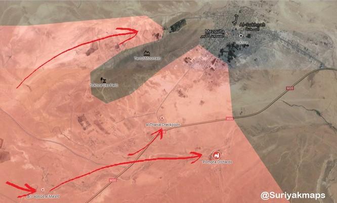 Nga yểm trợ, quân đội Syria siết chặt vòng vây cứ điểm IS ảnh 1