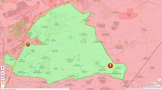 Ngừng bắn sụp đổ, quân đội Syria đánh thẳng vào phiến quân ven Damascus ảnh 1