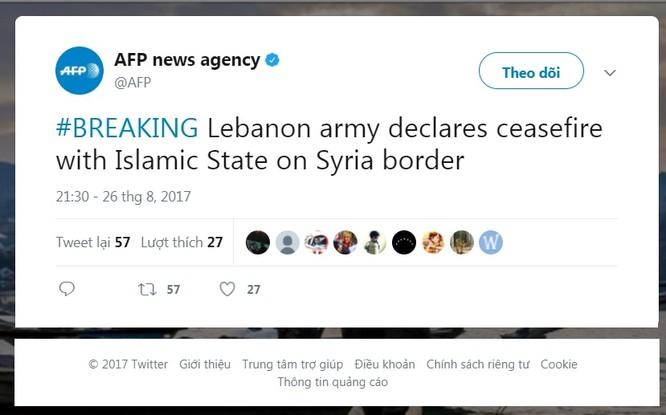 Chiến sự Syria: Hezbollah, Lebanon ngừng bắn với IS trên biên giới ảnh 2