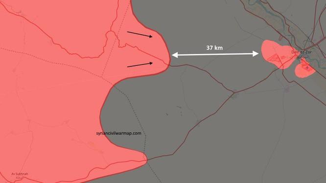 Quân đội Syria đánh bật IS, đoạt dãy núi chiến lược ở Deir Ezzor ảnh 1