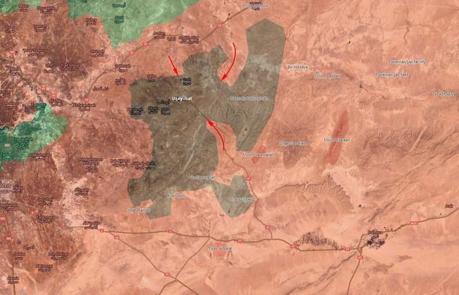 """Nga dội lửa, đặc nhiệm """"Săn IS"""" chiếm thị trấn phiến quân ở Hama (video) ảnh 1"""