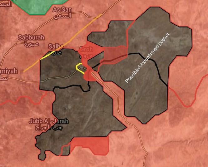 Nga dội hoả lực, quân đội Syria đè bẹp IS cố thủ thị trấn ở Hama (video) ảnh 1