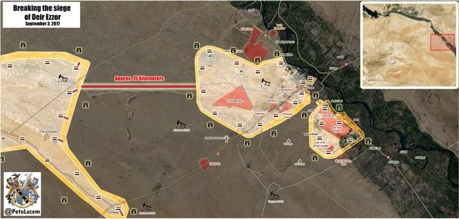 """""""Hổ Syria"""" áp sát Deir Ezzor 15 km, IS dàn trận phản công ảnh 1"""