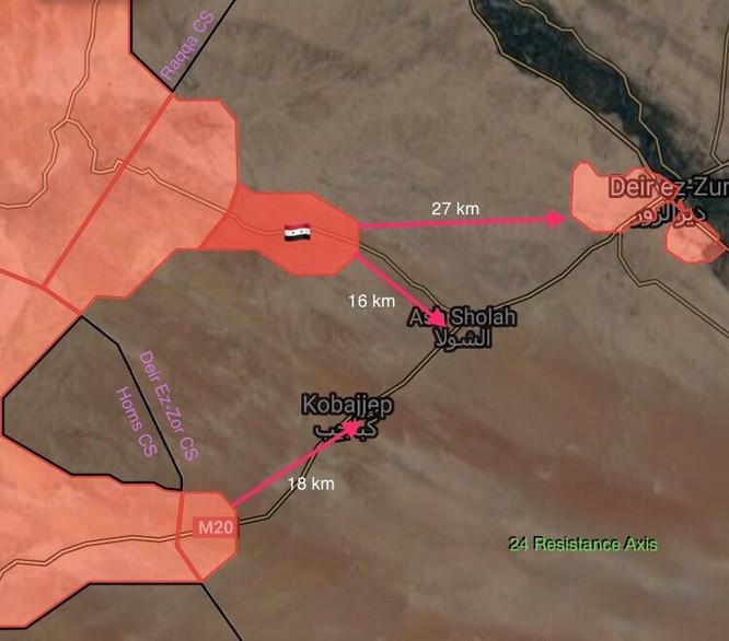 """""""Hổ Syria"""" tiến công mãnh liệt, chỉ còn cách Deir Ezzor 18 km (video) ảnh 2"""