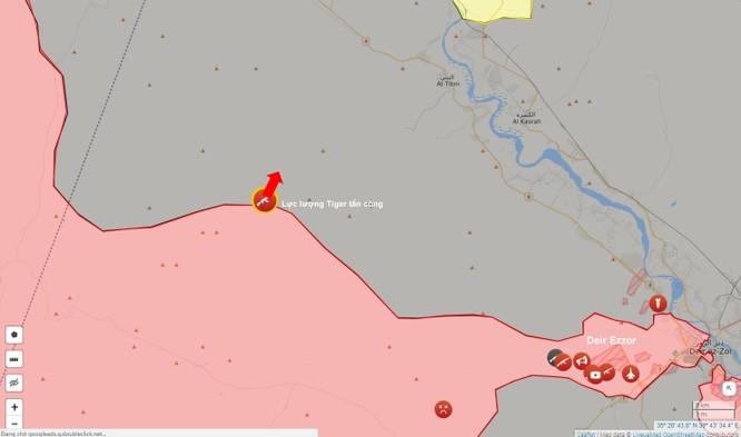 """""""Hổ Syria"""" chọc thủng vòng vây IS quanh Deir Ezzor, đánh về phía tây Euphrates (video) ảnh 1"""