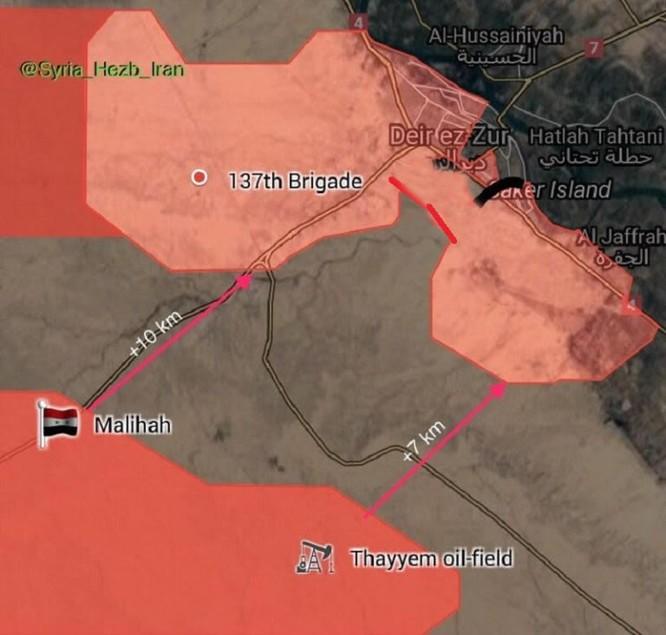 """Nga trút sấm sét hỏa lực, """"Hổ Syria"""" tấn công bao vây IS tại Deir Ezzor (video) ảnh 1"""