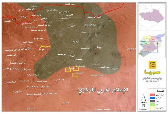 Nga càn quét hỏa lực, quân đội Syria đánh chiếm hàng chục địa bàn IS tại Homs (video) ảnh 1