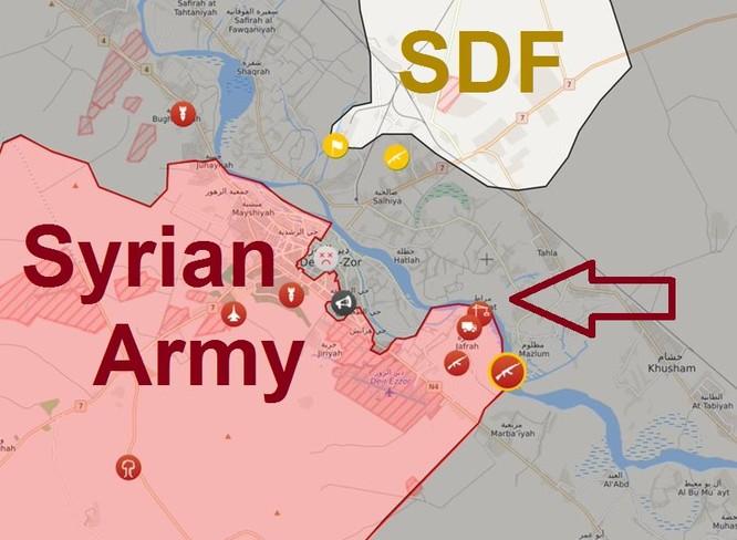 Quân đội Syria đánh dẹp IS ở Deir Ezzor, băng qua Euphrates chặn người Kurd (video) ảnh 1