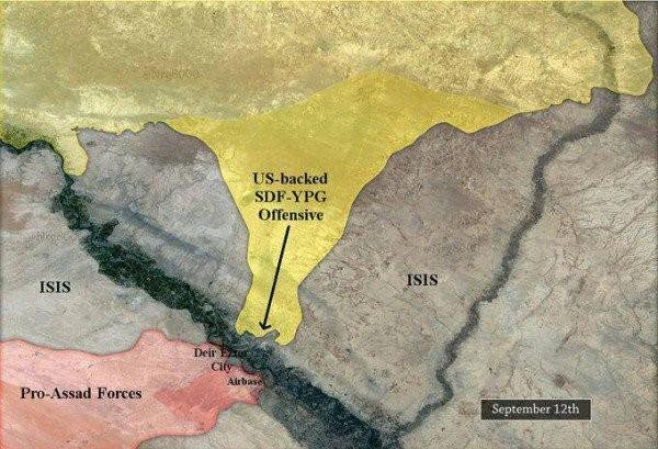 """Người Kurd đe đánh quân đội Syria tại Deir Ezzor, IS """"vờ"""" chống cự ảnh 1"""