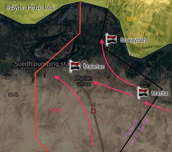 """""""Hổ Syria"""" tốc chiến đánh gục IS, quét sạch toàn bộ sa mạc Deir Ezzor - Raqqa (video) ảnh 1"""