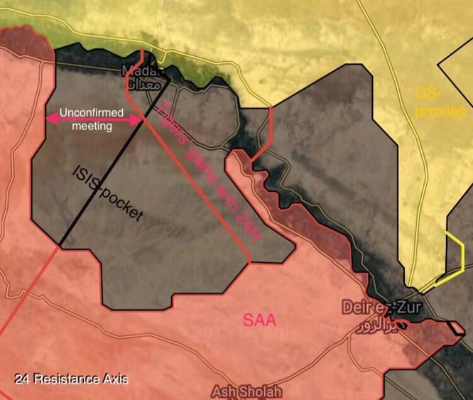 """""""Hổ Syria"""" tốc chiến đánh gục IS, quét sạch toàn bộ sa mạc Deir Ezzor - Raqqa (video) ảnh 2"""
