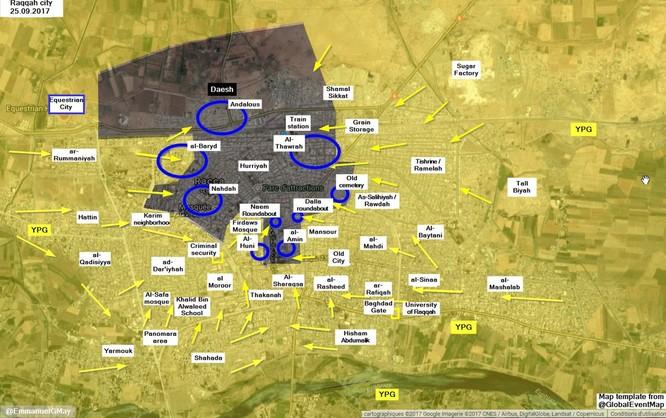 Phiến quân IS kịch chiến khốc liệt người Kurd tại Raqqa (video) ảnh 1