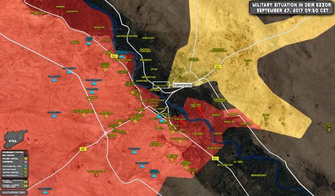 Nga càn quét, quân đội Syria gắng kết liễu IS tại chảo lửa Deir Ezzor (video) ảnh 1