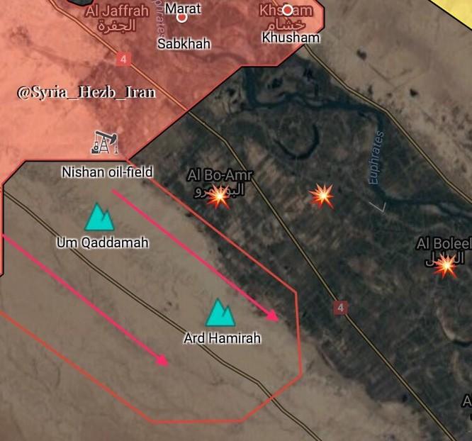 Nga yểm trợ mãnh liệt, quân đội Syria tung đòn tấn công IS dọc Euphrates ảnh 1