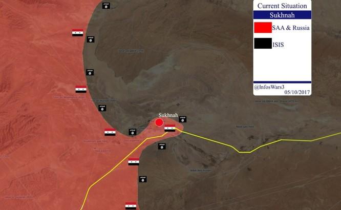 Quân đội Syria ổ ạt tấn công Deir Ezzor, IS quyết chiếm thị trấn Sukhnah tỉnh Homs ảnh 2