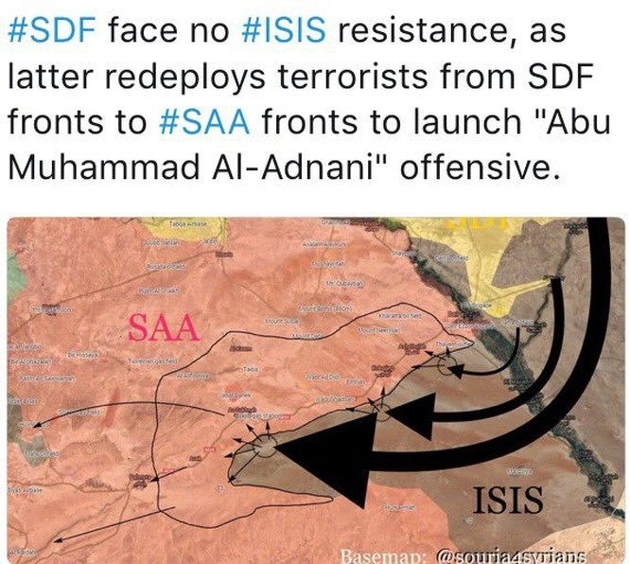 Quân đội Syria ổ ạt tấn công Deir Ezzor, IS quyết chiếm thị trấn Sukhnah tỉnh Homs ảnh 1