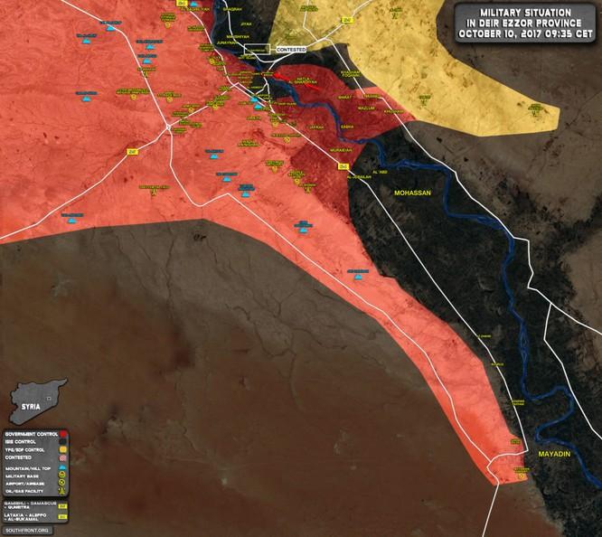 Quân đội Syria tiến đánh ác liệt IS ở Deir Ezzor, chiếm cầu trên sông Euphrates (video) ảnh 1