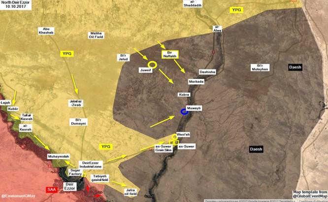 IS đột ngột tung đòn tấn công người Kurd tại Deir Ezzor ảnh 1