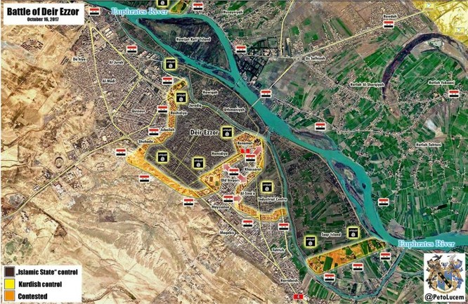 Quân Syria tấn công dữ dội, IS tháo chạy khỏi 5 thị trấn ở Deir Ezzor ảnh 1