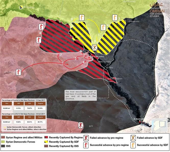 Không quân Nga đánh rát, IS rút chạy khỏi mỏ dầu chiến lược ở Deir Ezzor ảnh 1