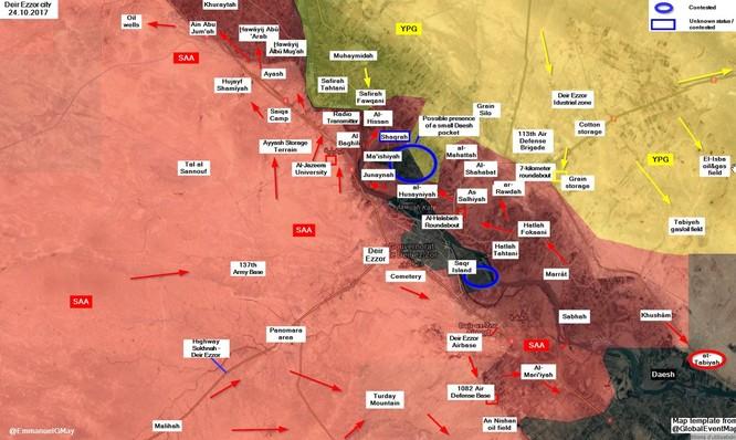 Quân đội Syria tấn công IS dọc bờ đông Euphrates, chiếm 2 cứ địa phiến quân ảnh 2