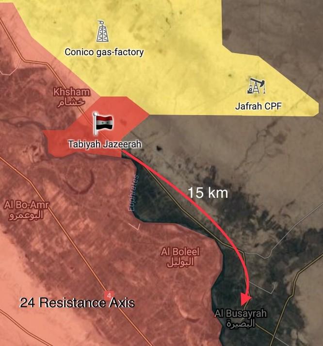 Quân đội Syria tấn công IS dọc bờ đông Euphrates, chiếm 2 cứ địa phiến quân ảnh 1