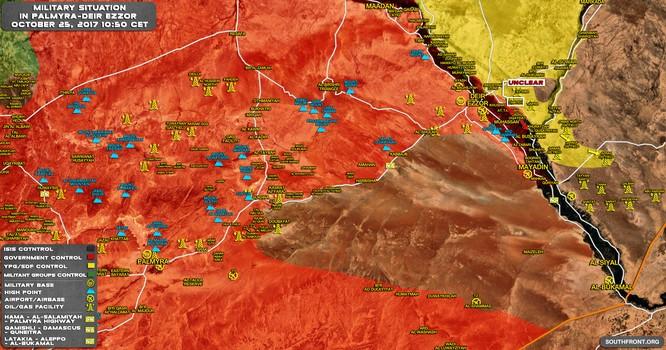 """IS tử chiến cầm chân quân đội Syria, người Kurd chiếm đất """"như chỗ không người"""" ở Deir Ezzor ảnh 2"""