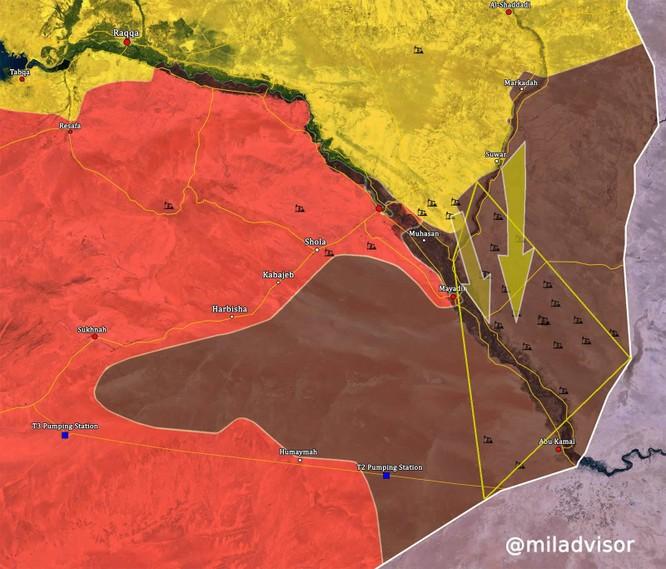 """IS tử chiến cầm chân quân đội Syria, người Kurd chiếm đất """"như chỗ không người"""" ở Deir Ezzor ảnh 1"""