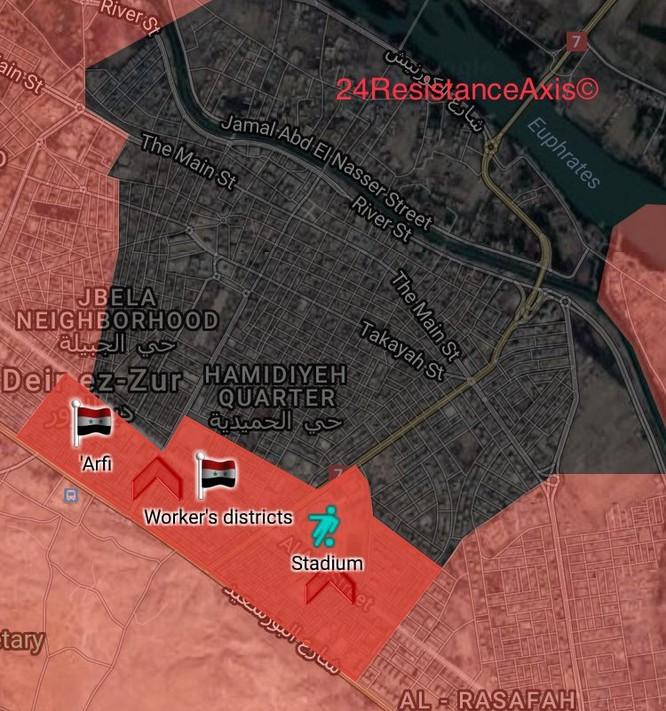 """""""Hổ Syria"""" ra đòn đè bẹp IS chiếm 2 quận nội thị Deir Ezzor ảnh 1"""