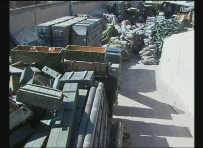 Quân đội Syria phát hiện kho vũ khí khủng của IS ảnh 1