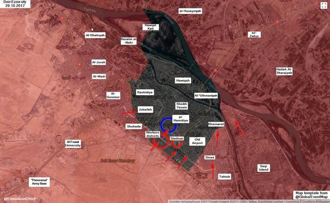 """Hổ Syria"" truy diệt IS trong chảo lửa Deir Ezzor (video) ảnh 2"