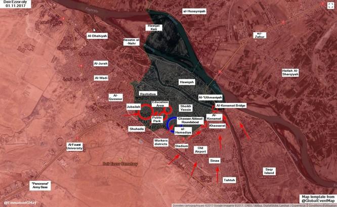 """""""Hổ Syria"""" tung đòn hạ IS, giải phóng liên tiếp các quận Deir Ezzor ảnh 1"""