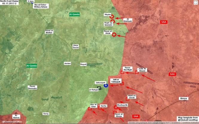 Quân Syria đập tan phiến quân al Qaeda, chiếm 6 khu vực tại Hama ảnh 1