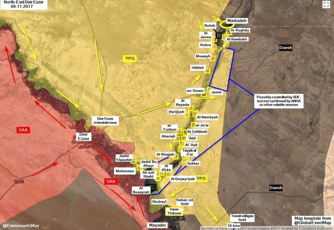 Quân Syria xốc tới diệt IS đua chiếm mỏ dầu, ngăn chặn người Kurd (video) ảnh 1
