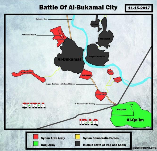 Liên quân Mỹ ngăn chặn quân đội Syria đánh vào sào huyệt IS tại AbuKamal ảnh 1