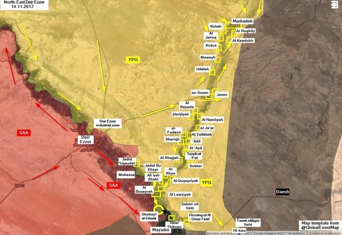 IS nã pháo phản lực giáng trả người Kurd càn quét Euphrates ảnh 1