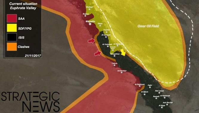 """""""Hổ Syria"""" hiệp đồng truy quét tàn binh IS tại khu vực Euphates ảnh 1"""