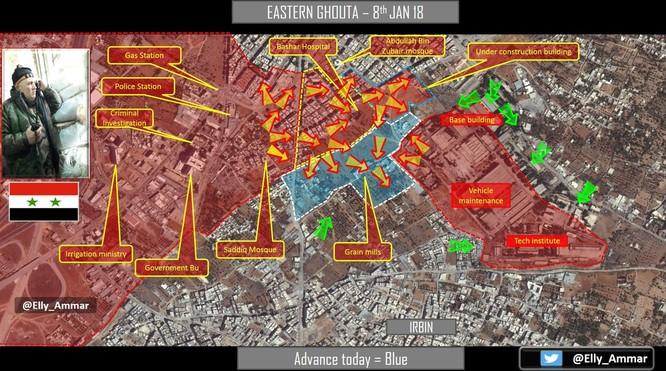 Quân đội Syria phá vỡ vòng vây phiến quân tại chảo lửa Đông Ghouta ảnh 1