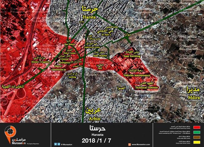 Phiến quân Syria phản công lớn ở chảo lửa Đông Ghouta ảnh 1