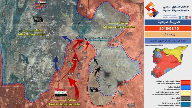 Quân đội Syria áp sát sân bay chiến lược, sắp kết liễu Al-Qaeda tại đông Idlib ảnh 1