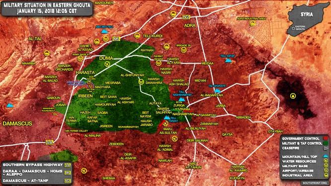 Ác chiến đẫm máu tại tại tử địa Đông Ghouta, Syria ảnh 1