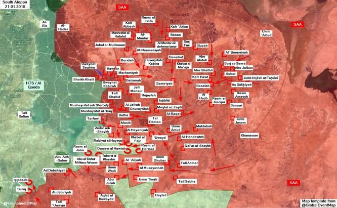 """""""Hổ Syria"""" đè bẹp phiến quân tại Idlib, đoạt liên tiếp 7 cứ địa quanh sân bay Abu Al-Duhur ảnh 1"""