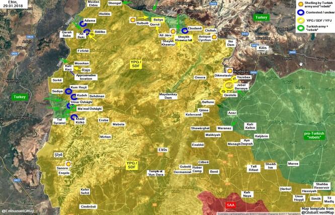 Quân Thổ xung trận đẩy lùi người Kurd Syria, đoạt thêm lãnh thổ ở Afrin ảnh 1