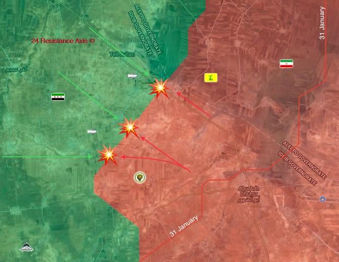 """Nga trút bão lửa, """"Hổ Syria"""" chiếm lại 2 thị trấn tại sào huyệt Idlib ảnh 1"""