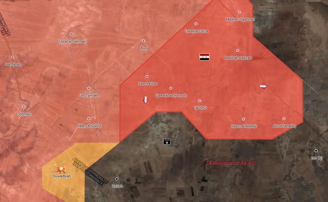 Quân đội Syria nghiền nát IS, chiếm 8 cứ địa ở đông bắc Hama ảnh 1