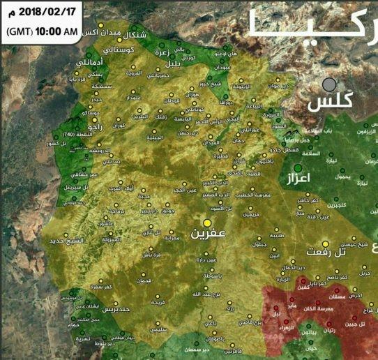 Thổ dồn quân đánh rát người Kurd phòng thủ Afrin, Aleppo ảnh 1