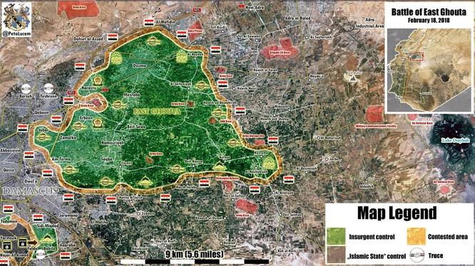 """""""Hổ Syria"""" mở màn chiến dịch giải quyết phiến quân tại tử địa Đông Ghouta ảnh 1"""