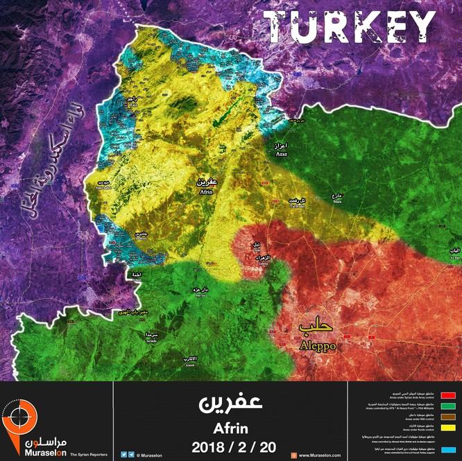 """Thổ khoe """"đuổi"""" quân đội Syria khỏi Afrin, đánh chiếm hàng chục địa bàn ảnh 1"""